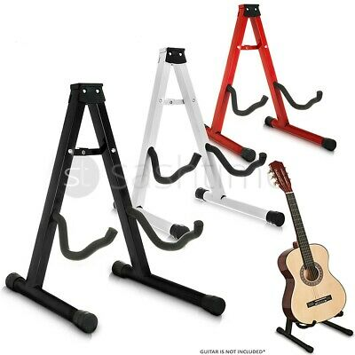 $ CDN15.69 • Buy Folding Metal Guitar Stand Music Electric Acoustic Free Standing A Frame Stand