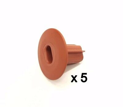 £26.89 • Buy Plastic Hole Tidy Wall Grommet Sky Twin Double Coax Aerial Cable Entry BROWN X 5