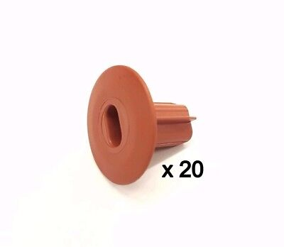 £26.99 • Buy Plastic Hole Tidy Wall Grommet Sky Twin Double Coax Aerial Cable Entry BROWN X20