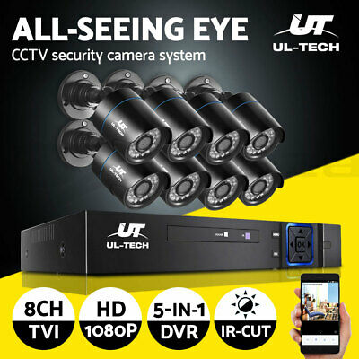 AU200.90 • Buy UL-tech CCTV Home System Security Camera 8CH DVR 1080P HD Outdoor IP Day Night