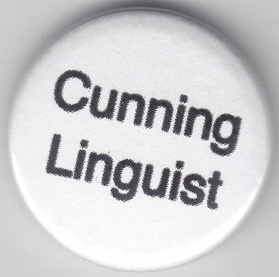 Cunning Linguist 1 Inch / 25mm Pin Button Badge Stag Do Humour Funny Cheeky Cute • 0.99£
