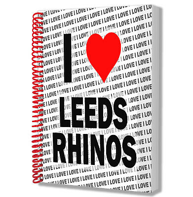 I Love Leeds Rhinos Notebook Diary Drawings Pad Birthday Christmas Gift • 12.95£