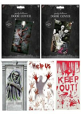 Halloween Door Cover Decoration Sign Party Prop Scary Zombie Bloody Hand Print • 2.99£