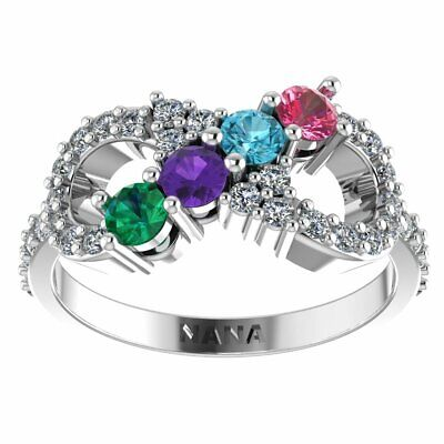 $79 • Buy NANA Infinity Mothers Ring 1 To 6 Simulated Birthstones Sterling Silver Or 10k