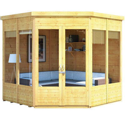 BillyOh Premium Wooden Tongue And Groove Corner Shed 7ft X 7ft Pent Roof & Felt • 1,073£