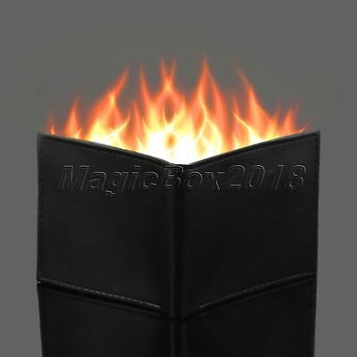 £9.68 • Buy 11cmx10cmx2cm Synthetic PU Leather Flame Fire Wallet Magician Trick Street Show