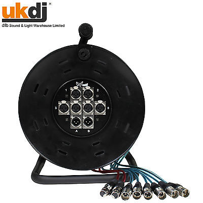 W Audio XLR Multicore Drum / Snake 6/2 6 Inputs & 2 Returns 15m 50ft • 65£