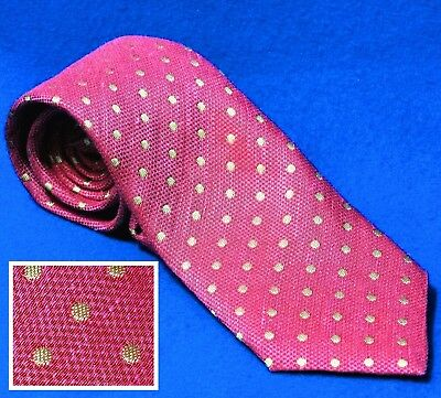 $38.21 • Buy Seaward&stearn London Silk/cotton Rose Fuschia Green Lime Polka Dot Neck Tie