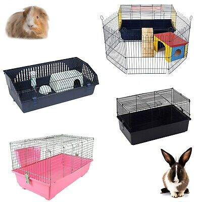 Little Friends Rabbit Guinea Pig Pet Indoor Cage Hutch 60cm 80cm 100cm 120cm • 56.10£