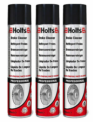 £10.89 • Buy 3 X Holts Professional Brake Clutch Cleaner Spray Grime Degreaser Remover 600ml
