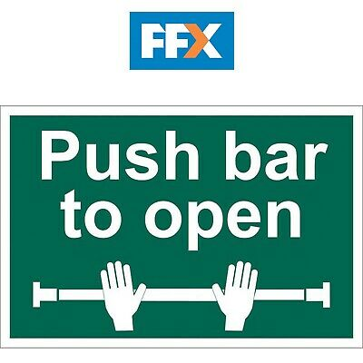 £12.31 • Buy Draper SS38 'Push Bar To Open' Safety Sign