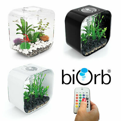 Oase BiOrb Life 30 Aquarium Fish Tank MCR LED Light Filter Black White Clear 30L • 204.99£
