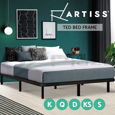 AU114.90 • Buy Artiss Bed Frame Queen Double King Single Metal Mattress Base Size Timber