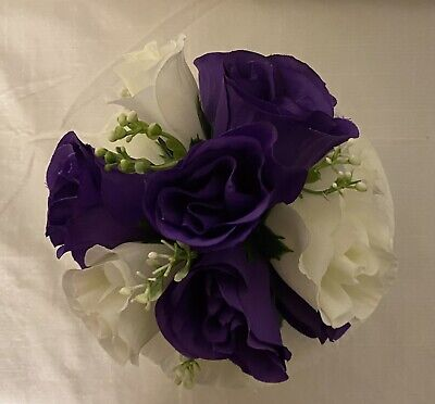 £6.50 • Buy Gorgeous Wedding Flowers Cake Topper Cadbury Purple & Ivory Roses & Gyp