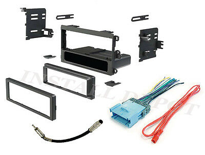 $19.62 • Buy Car Stereo Radio Dash Installation Mounting Trim Kit Bezel With Wiring Harness +