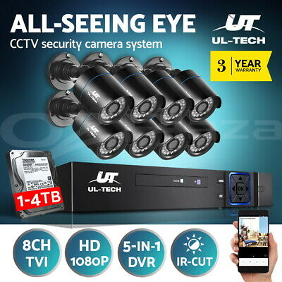 AU378.99 • Buy UL-tech CCTV Security Camera System Home DVR Outdoor Day Night Long Range 1080P