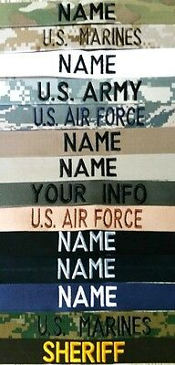 $4.85 • Buy Easy Order Name Tapes-military-law Enforcement With Hook Fastener