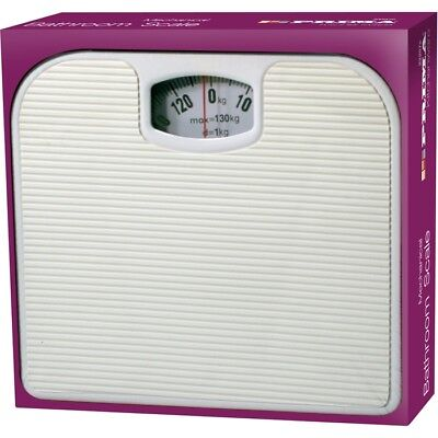 130kg Bathroom Scale Weighing Body Weight Mechanical Home Lose Fat Dial White • 7.95£