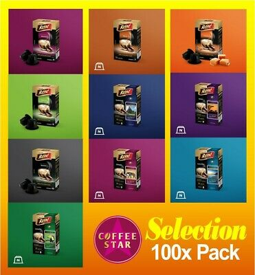 100 Coffeestar Nespresso Compatible Capsules 10 X Different Selected Blends • 18.99£