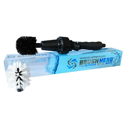 Brush Hero Wheel Brush, Premium Water-Powered Turbine For Rims, Engines, Bikes, • 31.99£