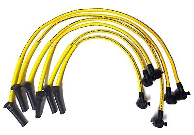 $141.99 • Buy Mustang 4.0L V6 05-10 10 Mm High Performance Yellow Spark Plug Wire Set 29231B