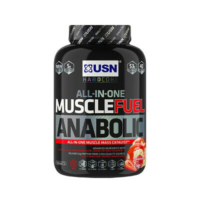£29.99 • Buy USN Muscle Fuel Anabolic 2Kg/2000g All-In-One Protein Powder All Flavours