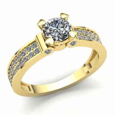 $1023 • Buy Natural 0.75ctw Round Diamond Ladies Bridal Solitaire Engagement Ring 18K Gold