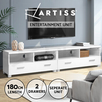 AU169.95 • Buy Artiss TV Cabinet Entertainment Unit Stand Storage Drawers 180cm Lowline Shelf