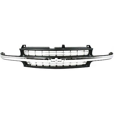 $99.63 • Buy Grille For 99-2002 Chevrolet Silverado 1500 2000-2006 Tahoe Black Plastic