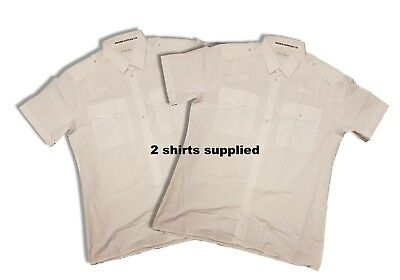 £9.95 • Buy 2x Ex Police Shirts Mens/Gents Long & Short Sleeve Double Two Police White Shirt