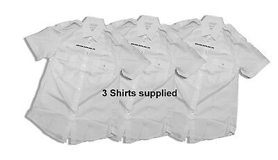 £9.95 • Buy 3x Ex Police Shirts Ladies / Female  Long & Short Sleeve Double Two Police Shirt