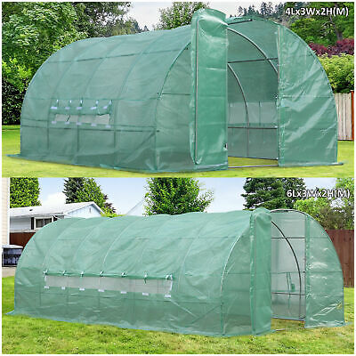 Reinforced Steel Walk-in Polytunnel Greenhouse With Door And Windows (2 Sizes) • 169.99£