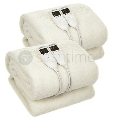 £44.95 • Buy Premium Electric Blanket Heated Under Fitted Washable LED Dual Controller Fleece