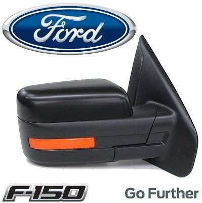 $378.93 • Buy For Ford F-150 Passenger Right Power Fold Heated Signal Puddle Mirror Assembly