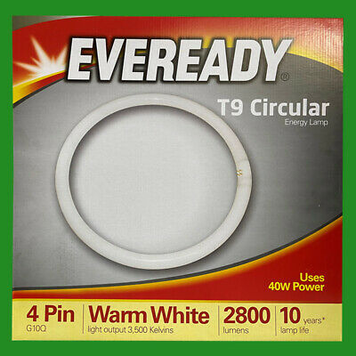 1x 40W G10Q 4 Pin T9 Round 400mm Circular Lamp Fluorescent Tube Ring Light Bulb • 9.95£