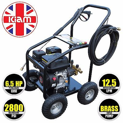 6.5HP Petrol Pressure Washer Commercial Quality 2800PSI BRASS PUMP - NOT A TOY ! • 450£