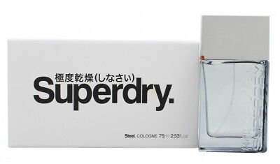 Superdry Steel Eau De Cologne Edc 75ml Spray - Men's For Him. New. Free Shipping • 26.29£