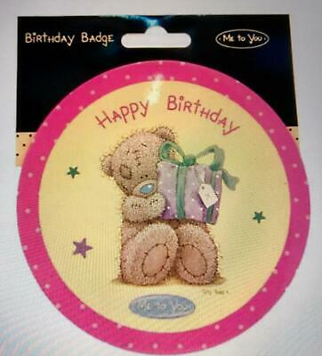 Happy Birthday Me To You Bear Party Giant Badge • 3.95£