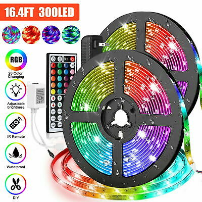 $12.88 • Buy 16.4FT RGB Flexible Strip Light 300LED SMD Fairy Lights Remote Room TV Party Bar