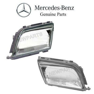 $338.81 • Buy For Mercedes R129 500SL 600SL Pair Set Of Left & Right Headlight Lens Genuine