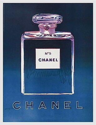 $795 • Buy Chanel (Purple & Blue) Offset Lithograph On Paper Mounted On Canvas Andy Warhol