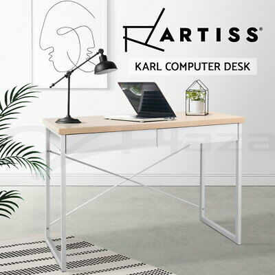 AU93.90 • Buy Artiss Computer Desk Study Student Metal Writing Table Office Drawer Cabinet