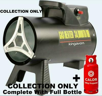 New Complete With Calor Bottle Kingavon 15kw Gas Lpg Propane Space Blow Heater • 1,175£