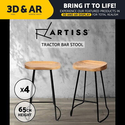 AU289.90 • Buy Artiss 4 X Vintage Tractor Bar Stools Retro Bar Stool Industrial Chairs 65cm