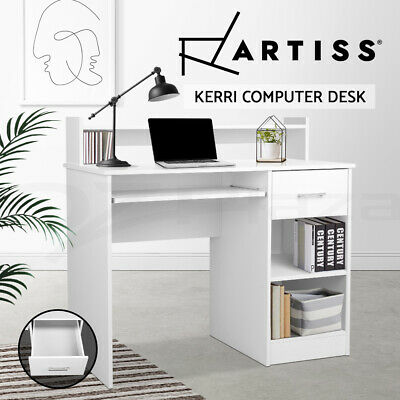 AU159.90 • Buy Artiss Computer Desk Office Study Table White Drawer Storage Laptop Student Home