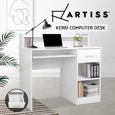 AU138.95 • Buy Artiss Office Computer Desk Study Table White Drawer Storage Laptop Student Home