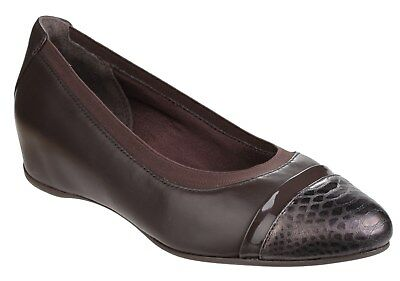 Rockport Total Motion Esha Evan Womans Layer Slip On Wedge Pump Ladies Shoes • 69.95£