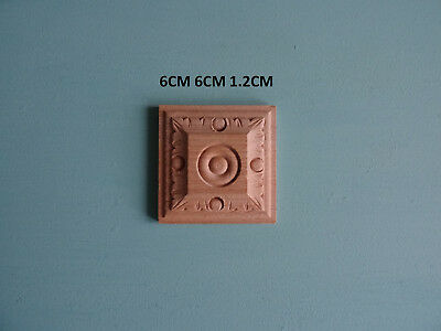AU8.79 • Buy Decorative Wooden Square Centre Appliques Furniture Mouldings Onlay WK27