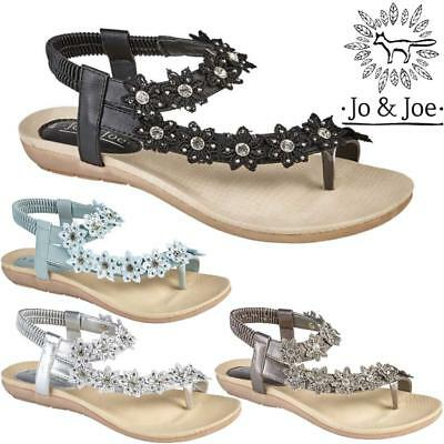 Ladies Wedge Sandals Womens Heels Strappy Summer Dress Party Evening Shoes Size • 8.95£