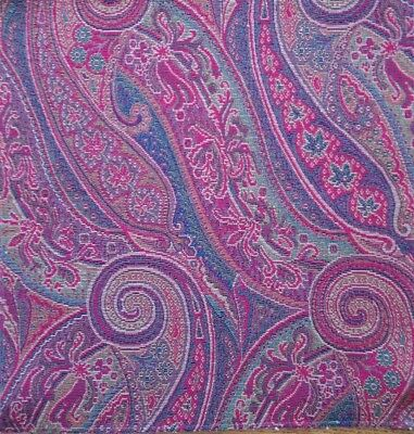 $20 • Buy ETRO  Sao Paisley Red Cotton Polyester Woven Italy New Remnant